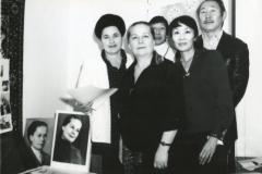 П.Абашеев, Л.Схьянова, Ц.Бадмаев, Г.Л. Родионова (администратор театра)